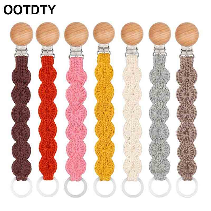 Handmade Pacifier Clips Chain Dummy Clip Pacifier Holder Clasps Nipple Soother Chain For Infant Baby Feeding