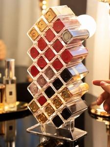 Image 4 - 28 Grids Acrylic Makeup Organizer Storage Box Cosmetic Lipstick Jewelry Box Case Holder Display Stand Make Up Organizer