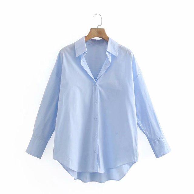 Camisa Manga Longa Feminina Zevity - Chemise Popeline 9114 1