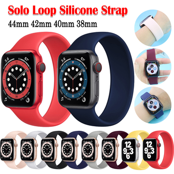 port silicone bracelet for apple watch band strap 42mm 38mm iwatch series 3 2 1 wrist belt camouflage watchband metal buckle Silicone Solo Loop Strap For Apple Watch 3 band 42mm 38mm iwatch Band 44mm 40mm Bracelet Belt For series 6 5 4 3 2 SE Watchband
