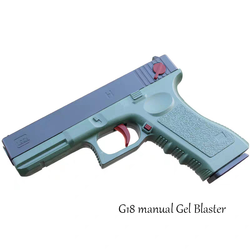 Lehui Glock 18 Water Bomb Children Manual Gel Blaster Toy Gun Eat Chicken With P18c G18 Launch Model Outdoor