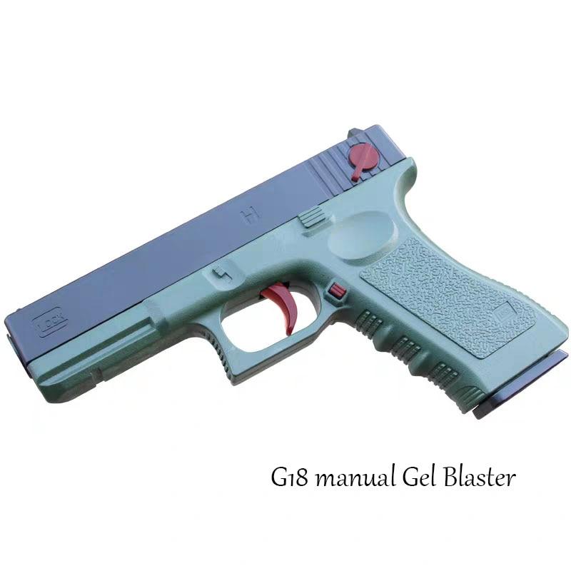 Lehui Glock 18 Water Bomb Children Manual Gel Blaster Toy Gun Eat Chicken With P18c G18 Launch Model Outdoor