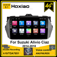 Carplay 8 Core 32G Android 8,1 Wifi 4G 2,5 D 9 Zoll für SUZUKI Alivio CIAZ 2014-2018 2015 2016 GPS Navigation Player Touchscreen