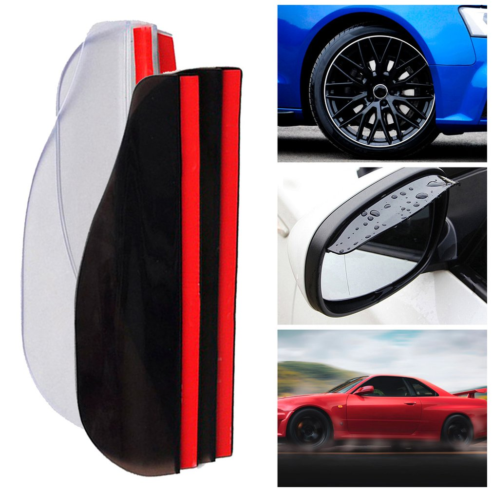 Practical Auto Car Rear View Mirror Rain Guard Mirror Rain Eyebrow Visor Essential Accessories