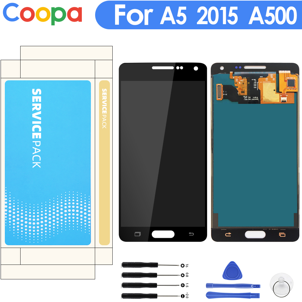 For Samsung Galaxy A5 2015 A500 SM- A500F A500FU A500M A500H LCD Display Monitor Touch Screen Digitizer Glass Assembly