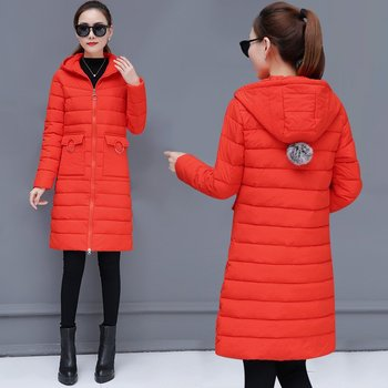 Winter Women Coat Slim Solid Color Cotton Padded Parkas Casual Female Windproof Long Jacket Student Warm Quilted Overcoat