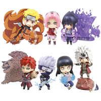 Nendoroid Naruto Shippuden Uchiha Sasuke 707 Uzumaki Naruto 682 Hyuuga Hinata 879 Hatake Kakashi 724 PVC Action Figure Spielzeug