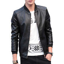 2019 осенне зимнее мужское кожаное пальто, корейские приталенные кожаные куртки, размер M 4XL, модная повседневная верхняя одежда для мужчин