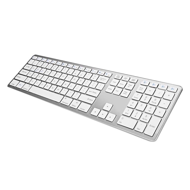 BK418 Ultra Slim Wireless Bluetooth Keyboard Notebook Tablet Keyboard 109Keys for Android/IOS/Windows Support Bluetooth Device image