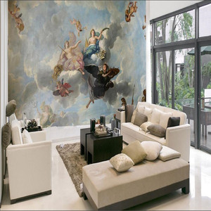 Image 4 - Custom Mammoth Mural Sofa Roof Background 3D Wallpapers for Living Room Bedroom Ceiling Angle Oil Painting Photo Wall Paper 3D
