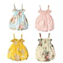 0-24M NEW Toddler Baby Girl Summer Dress Print Floral Sleeveless Dress Condole Belt Dress