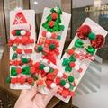 Детская Рождественская одежда, аксессуары для волос для девушек зажим Южная Корея;