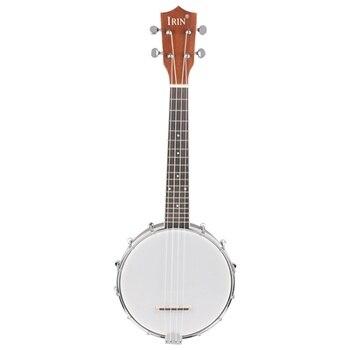 IRIN 23 inch Sapele Nylon 4 Strings Concert Banjo Uke Ukulele Bass Guitar Guitarra For Musical Stringed Instruments Lover Gift