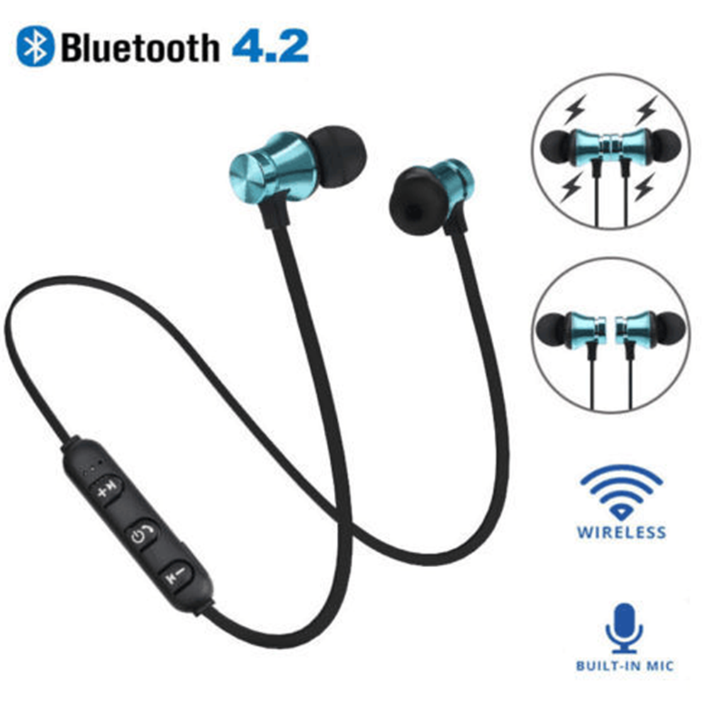 Magnetic Wireless Bluetooth Earphone XT11 HD Headset Phone Neckband Sport Earbuds Earphone With Mic For IOS Android All Phone