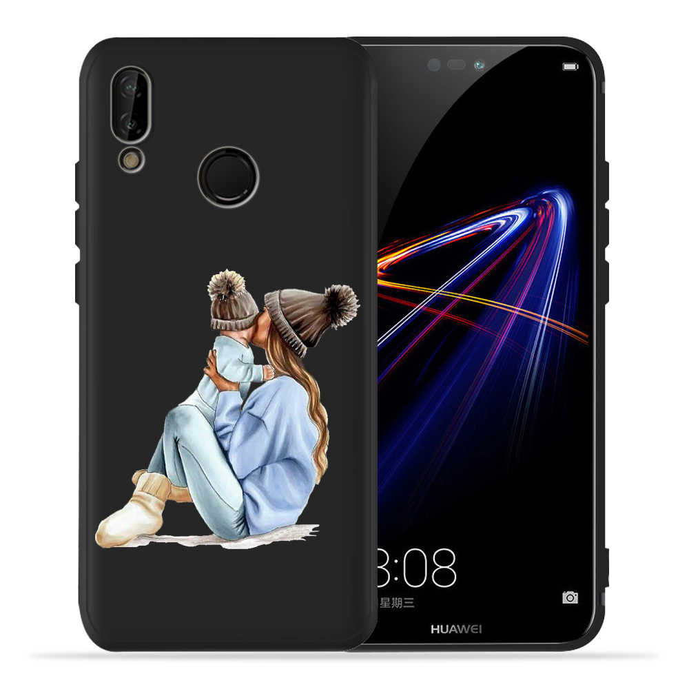 Fashion Baby Mom Girl Super Mom Dad Case For Huawei p20 Pro Case P20 P30 Pro P9 P8 Mate 20 Lite Honor 8X 9 10 20 PSmart Cover