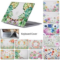 Laptop case For macbook Touch ID Air 13 A1932 2018 Air Pro Retina 11 12 13 13.3 15 touch bar A2159 A1706 A1707 + Keyboard Cover