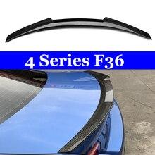 Carbon Fiber Rear Trunk Wings M4 Spoiler for BMW 4 Series F36 420i 428i 435i Gran Coupe 4-door 2013 + Gloss Black Spoiler Wing стоимость