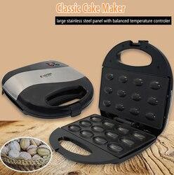Mini elektryczny ekspres do ciast gospodarstwa domowego automatyczne wafel naleśniki ciasto śniadanie szybkie ogrzewanie piec maszyna 750W 220V w Waflownice od AGD na