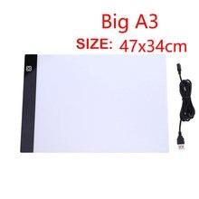 A3 ультра тонкий светодиодный цифровой графический коврик usb