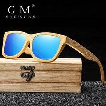 GM 새로운 브랜드 디자인 수제 천연 나무 대나무 선글라스 럭셔리 선글라스 Polarized Wooden Oculos de sol masculino