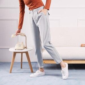 Image 2 - Metersbonwe Casual pantalones harem para las mujeres pantalones, Pantalones de mujer de alta calidad cintura elástica Oficina dama pantalones 753524