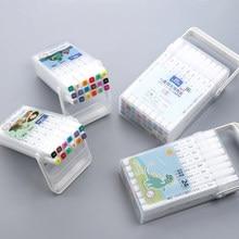Chenyu canetas marcador de tinta, 12 18 24 36 cores, escova lavável, desenho, aquarela, canetas artísticas para crianças escola