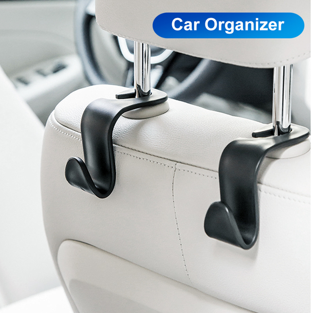 New Car Organizer Storage Hanger Truck Seat Back Hooks Headrest Hanger Handbag Bag Coat Storage Hanger Auto Organizer