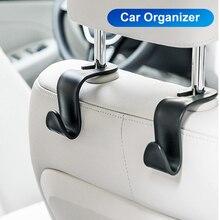 Nowy organizator samochodu wieszak do przechowywania fotel do ciężarówki tylne haczyki wieszak na zagłówek torebka torba płaszcz wieszak do przechowywania organizator samochodowy