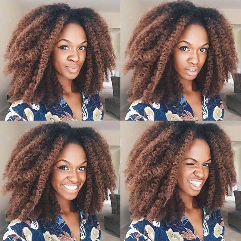 18 Inch Pure Color Marley Braids Hair Crochet Ombre Afro Synthetic Braiding Hair Crochet Braids Hair Extensions Bulk Black Brow