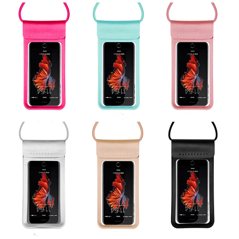 6.0 Waterproof Phone Case Cover Touchscreen Cellphone Dry Diving Bag Pouch With Neck Strap For IPhone For Xiaomi For Samsung