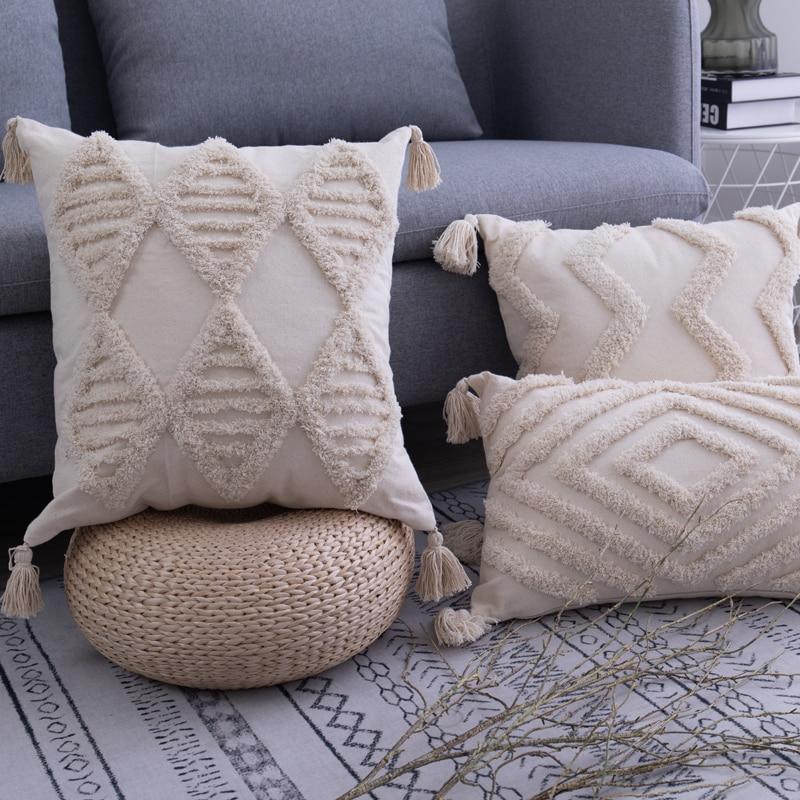 Tassels Cushion Cover 45x…