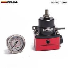 EPMAN Regulador de presión de combustible para coche, regulador de presión de combustible ajustable (con calibre/No con) 6.0L F250 para Ford, Diesel, Twin Beam 03 07 TK 7MGT ZTGA
