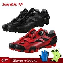 купить Santic 4 Style Pro MTB Bike Cycling Shoes Mountain Bicycle Self-Lock Shoes Nylon Sole Men women Racing Sneakers Zapatos Ciclismo дешево