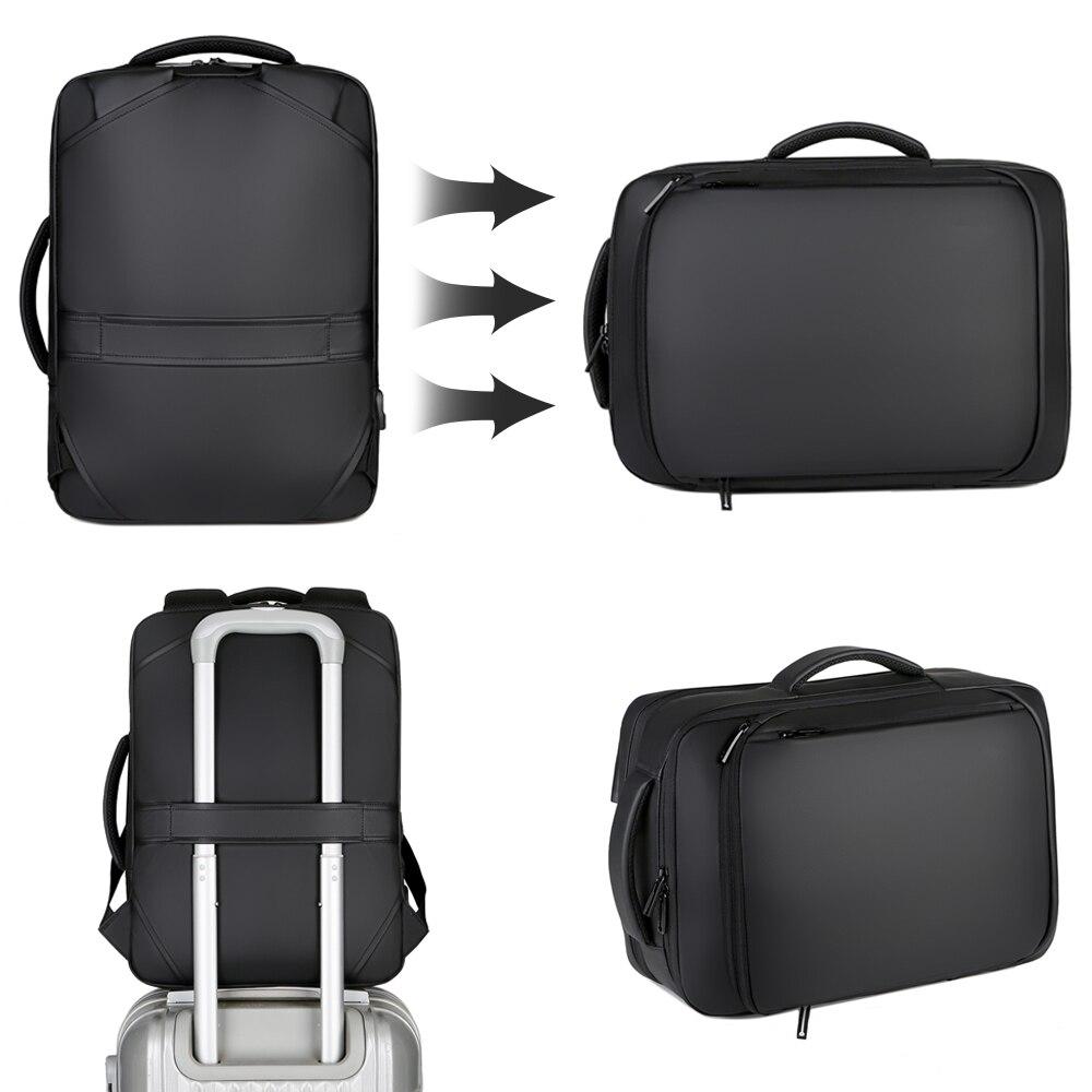 15,6-дюймовый рюкзак для ноутбука, мужские рюкзаки, деловой рюкзак, водонепроницаемый рюкзак для ноутбука, зарядка через USB, сумка для путешес...