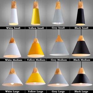 Image 5 - ペンダント lustres abajur ペンダントランプ照明器具 hanglamp カラフルなアルミランプシェード家庭用照明ダイニングルーム lampsha
