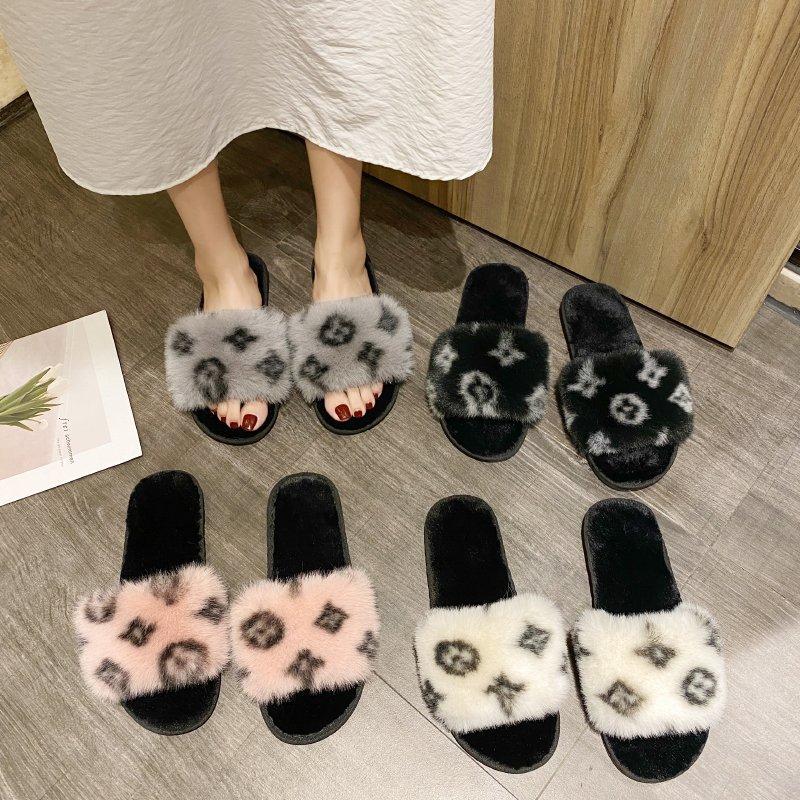 Slippers Women Fur Slides Women Designer Slides Casual Gladiator Sandals Summer Flip Flops Platform Slipper Women Home Shoes New Slippers  - AliExpress