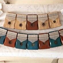 Alta qualidade de madeira 17 teclas kalimba polegar piano mbira corpo instrumentos musicais caixa música criativa dedo piano presente natal