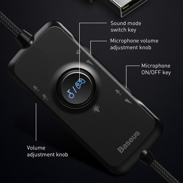 Baseus D05 3D Stereo Gaming Headphone USB/Type-C Colorful LED Light 5