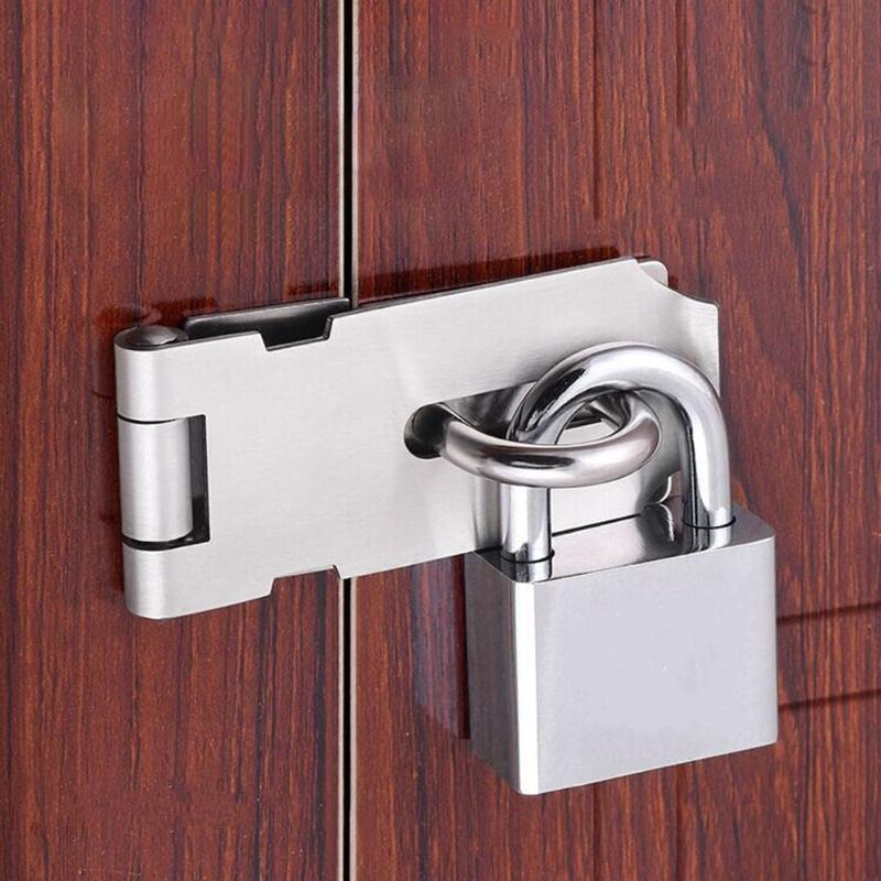 Stainless Steel Padlock Clasp Gate Hasp Staple <font><b>Easy