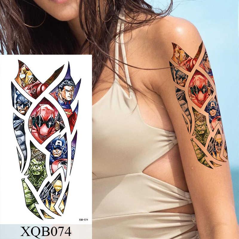 Tatuagem temporária à prova dwaterproof água adesivo flor rosa flash tatuagens lalash cobra leão corpo arte braço falso manga tatoo mulher