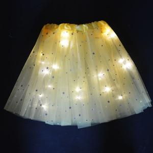 Светящийся светильник-пачка для взрослых женщин и девочек; Фатиновые светодиодные юбки; Вечерние юбки для девочек; Подарок на день рождения...