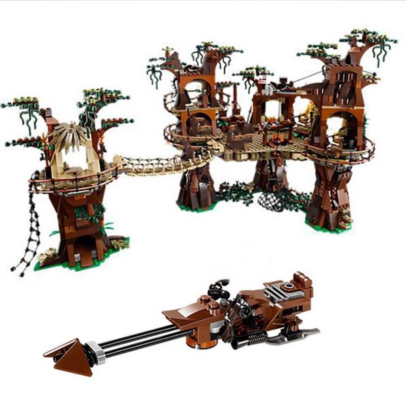 05047 Legoinglys Star Wars Star Plan Wars Ewok Village Village Forest 1990Pcs Model Building Block Bricks Toy For Kids Christmas