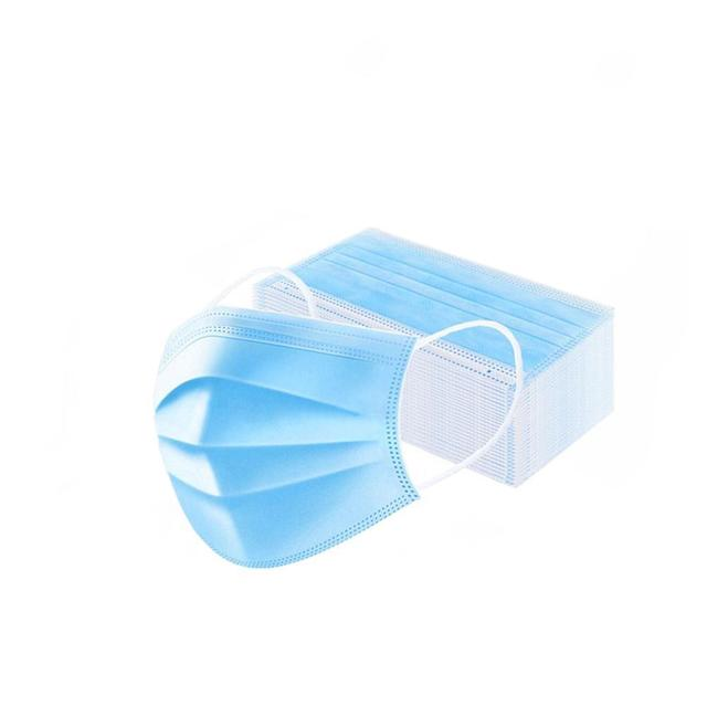 3-Layer Non-woven Disposable Soft Breathable Flu Hygiene Face Mouth Mask IN STOCK CE Certification Disposable mask Fast Delivery