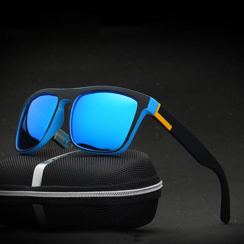 Matte Frame Polarized Sunglasses Men/Women Driving Goggles Eyewear Outdoor Sports Anti-Skidding UV Protection Rectangle Sunglass