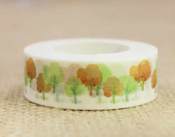 Autumn Forest Washi Masking Tape(1piece)