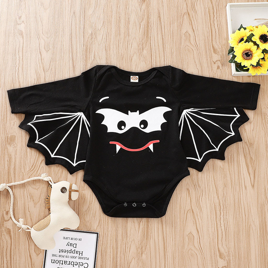0-18M Newborn Baby Boy Girl Cartoon Halloween Costume Romper Jumpsuit Outfit Top