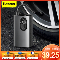 Baseus-compresor de aire portátil para coche, bomba de aire eléctrica, Mini Inflador de neumáticos automático, para bicicleta, Moto y barco