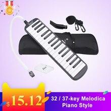 32 / 37-key Piano Style Melodica Harmonica Students Harmonica Mouth Organ Portable Harmonica Pianica Melodica Pianica Tube hot