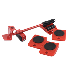 1/5pcs Furniture Mover Set Furniture Mover Tool Transport Lifter Heavy Stuffs Moving Wheel Roller Bar Hand Tools Dropship