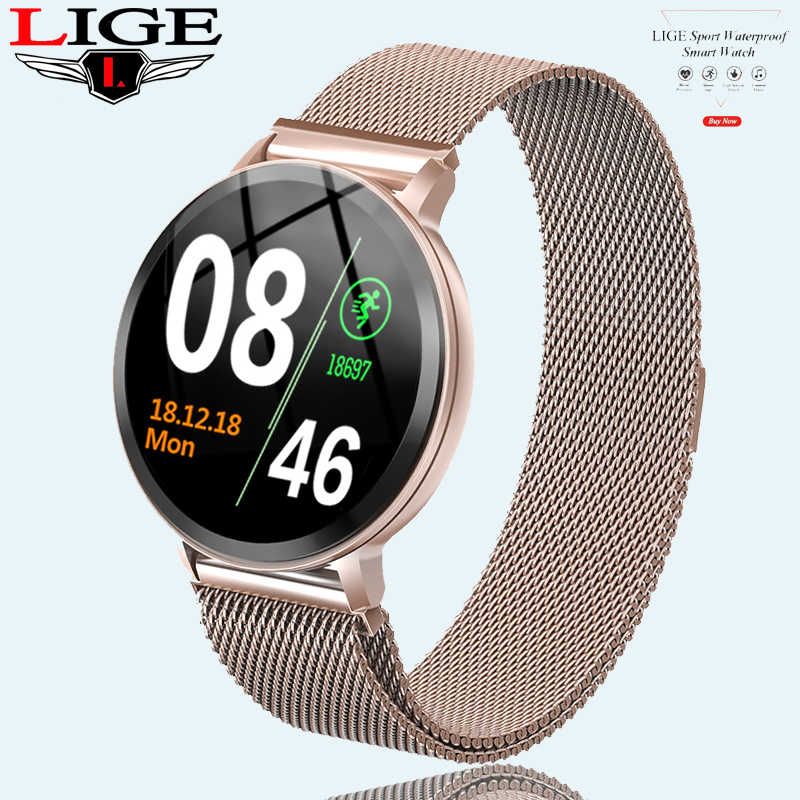 N58 LIGE Women's Smart Watch Health Monitor Heart Rate / Blood Pressure / Waterproof Pedometer Men's Watches Sports Smartwatch